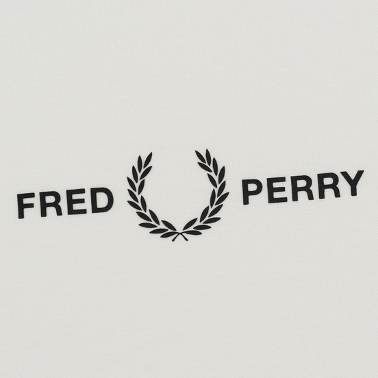 Женская футболка Fred Perry Printed High Neck Snow White