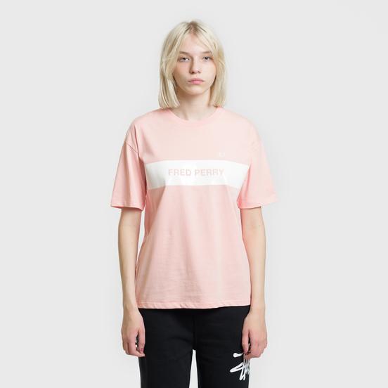 Женская футболка Fred Perry Printed Panel Cherry Blossom