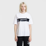 Женская футболка Fred Perry Printed Panel White фото- 1