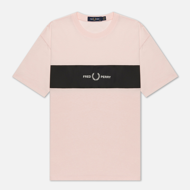 Женская футболка Fred Perry Satin Trim Iced Pink