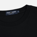 Женская футболка Fred Perry Sports Authentic Embroidered Panel Black фото- 1