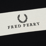 Женская футболка Fred Perry Sports Authentic Embroidered Panel Black фото- 2