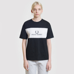 Женская футболка Fred Perry Sports Authentic Embroidered Panel Black фото- 3
