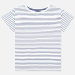 Женская футболка Fred Perry Striped Snow White фото- 0