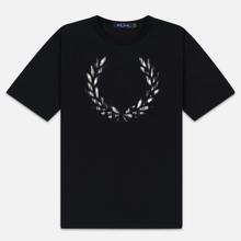 Женская футболка Fred Perry Tartan Laurel Wreath Black фото- 0