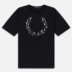 Женская футболка Fred Perry Tartan Laurel Wreath Black