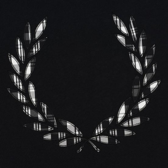 Женская футболка Fred Perry Tartan Laurel Wreath Black