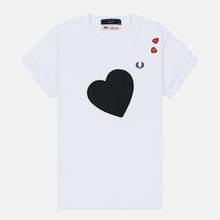 Женская футболка Fred Perry x Amy Winehouse Heart Detail White фото- 0