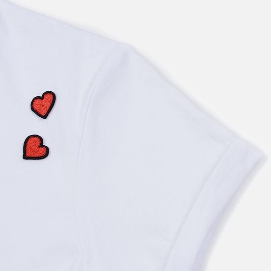 Женская футболка Fred Perry x Amy Winehouse Heart Detail White