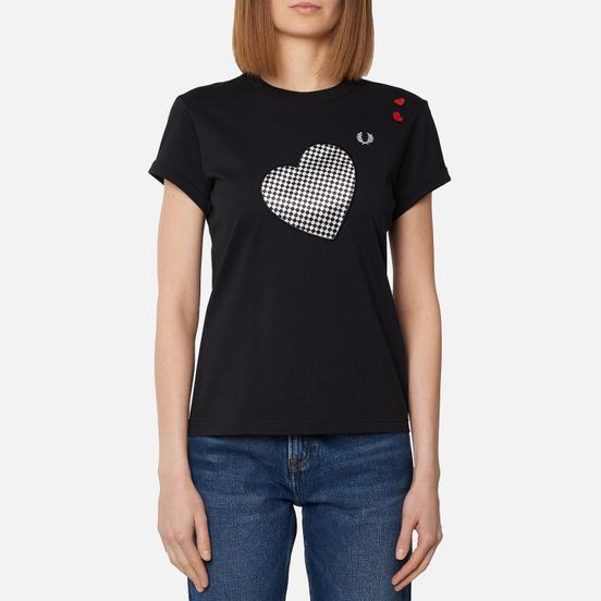 Женская футболка Fred Perry x Amy Winehouse Printed Black