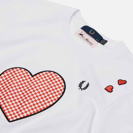 Женская футболка Fred Perry x Amy Winehouse Printed White