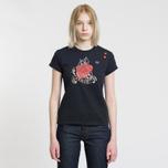 Женская футболка Fred Perry x Amy Winehouse Rose Print Black фото- 1