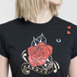 Женская футболка Fred Perry x Amy Winehouse Rose Print Black фото - 2