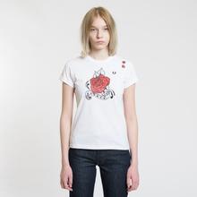 Женская футболка Fred Perry x Amy Winehouse Rose Print White фото- 1
