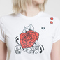 Женская футболка Fred Perry x Amy Winehouse Rose Print White фото - 2