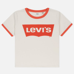 Женская футболка Levi's Orange Tab Ringer Surf Marshmallow фото- 0