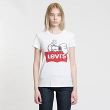 Женская футболка Levi's x Peanuts The Perfect Graphic Snoopy 2 White фото- 1