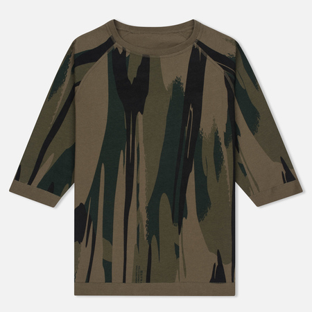 Женская футболка maharishi Reversible Camo Baseball British Bonsai Forest Jungle Camouflage