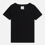 Женская футболка maharishi Rib Organic Cotton Black/Black фото- 0