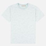 Maison Kitsune All Over Fox Women's T-shirt Aqua Verde photo- 0