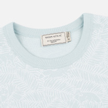Женская футболка Maison Kitsune All Over Fox Aqua Verde фото- 1