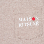 Женская футболка Maison Kitsune Army Beige Melange фото- 2