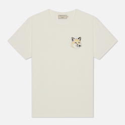 Женская футболка Maison Kitsune Big Pastel Fox Head Patch Off White