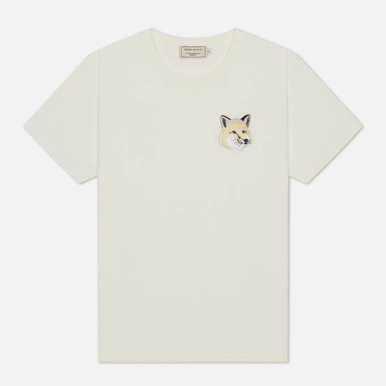 Женская футболка Maison Kitsune Big Pastel Fox Head Patch Off White