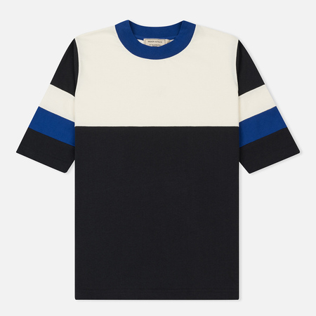 Женская футболка Maison Kitsune Color Block Anthracite/Ecru