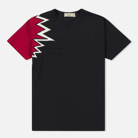 Женская футболка Maison Kitsune Embroidery Anthracite/Red