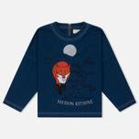 Женская футболка Maison Kitsune Embroidery Blue фото- 0