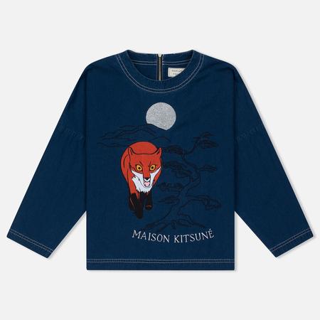 Женская футболка Maison Kitsune Embroidery Blue