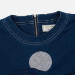 Женская футболка Maison Kitsune Embroidery Blue фото- 1