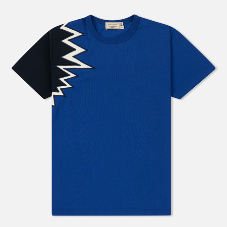 Женская футболка Maison Kitsune Embroidery Royal Blue/Navy