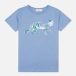 Женская футболка Maison Kitsune Flower Fox Chambray фото- 0