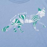 Женская футболка Maison Kitsune Flower Fox Chambray фото- 3
