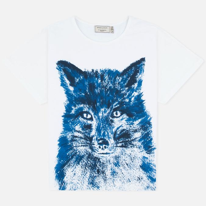 Женская футболка Maison Kitsune Fox Brush Blue