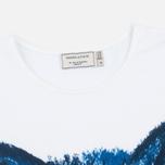 Женская футболка Maison Kitsune Fox Brush Blue фото- 1