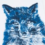 Женская футболка Maison Kitsune Fox Brush Blue фото- 3