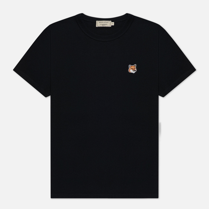 Женская футболка Maison Kitsune Fox Head Patch Black