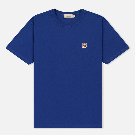 Женская футболка Maison Kitsune Fox Head Patch Blue