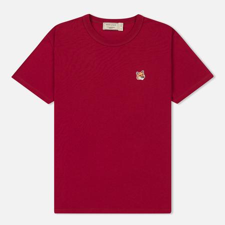 Женская футболка Maison Kitsune Fox Head Patch Fuchsia