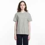 Женская футболка Maison Kitsune Fox Head Patch Grey Melange фото- 3
