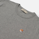 Женская футболка Maison Kitsune Fox Head Patch Grey Melange фото- 1