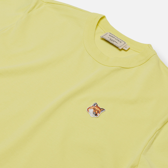 Женская футболка Maison Kitsune Fox Head Patch Lemon