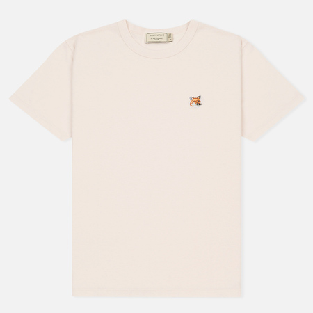 Женская футболка Maison Kitsune Fox Head Patch Light Pink