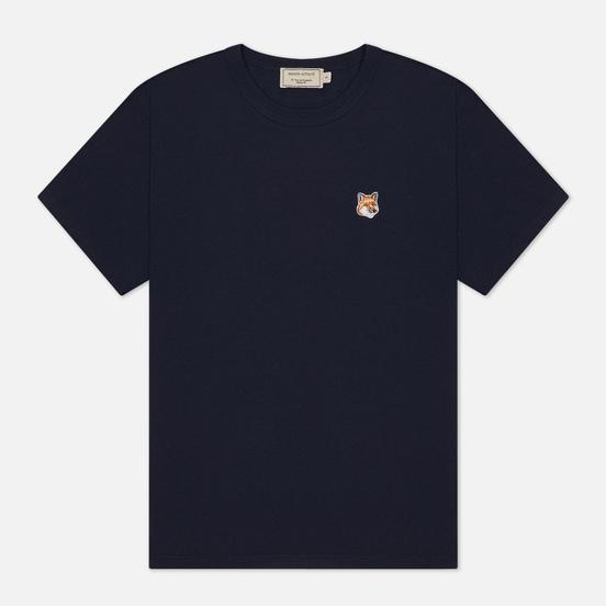 Женская футболка Maison Kitsune Fox Head Patch Navy