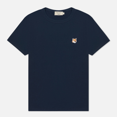 Женская футболка Maison Kitsune Fox Head Patch Navy