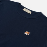 Женская футболка Maison Kitsune Fox Head Patch Navy фото- 1
