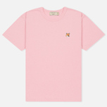 Женская футболка Maison Kitsune Fox Head Patch Pink фото- 0
